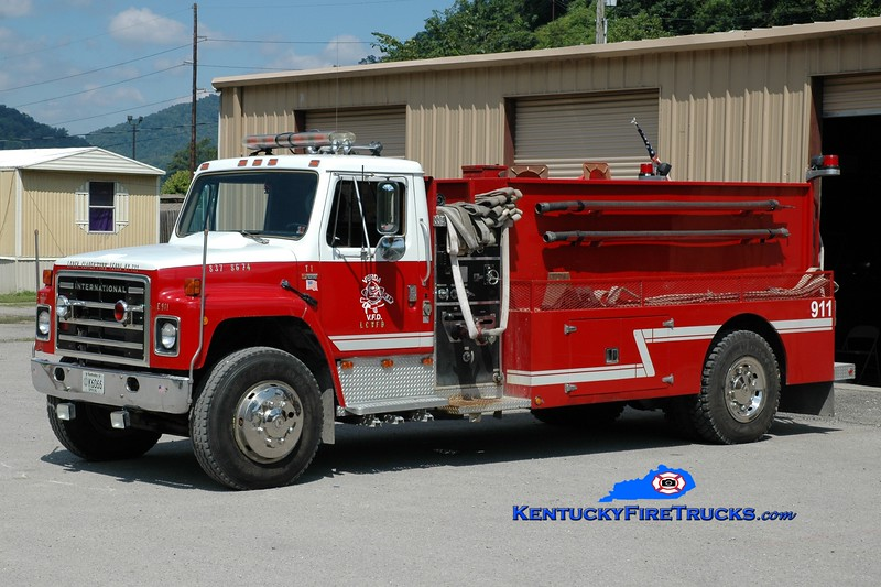 <center> *Now with Yocum Creek, KY <br> Lower Clover Fork  Tanker 1 <br> 1980 International S1800/2000 Wynn 350/1500 <br> Greg Stapleton photo </center>