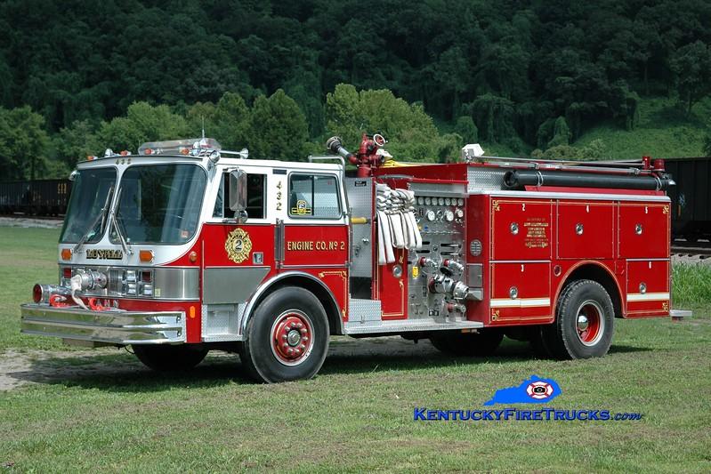 <center> Loyall  Engine 2 <br> x-St. James, NY <br> 1986 Hahn 92 1500/1000 <br> Greg Stapleton photo </center>