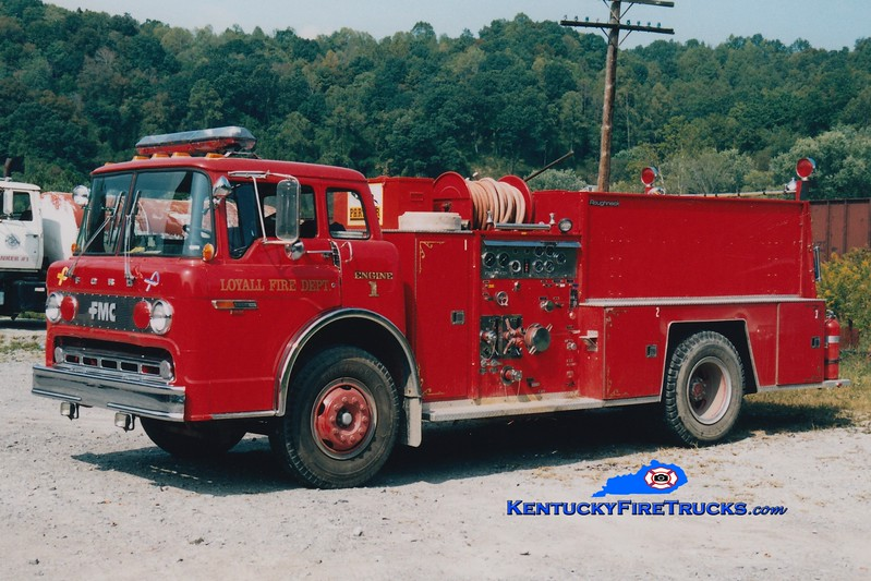 <center> RETIRED <br> Loyall  Engine 1 <br> 1982 Ford C/FMC 1000/750  <br> Greg Stapleton photo </center>