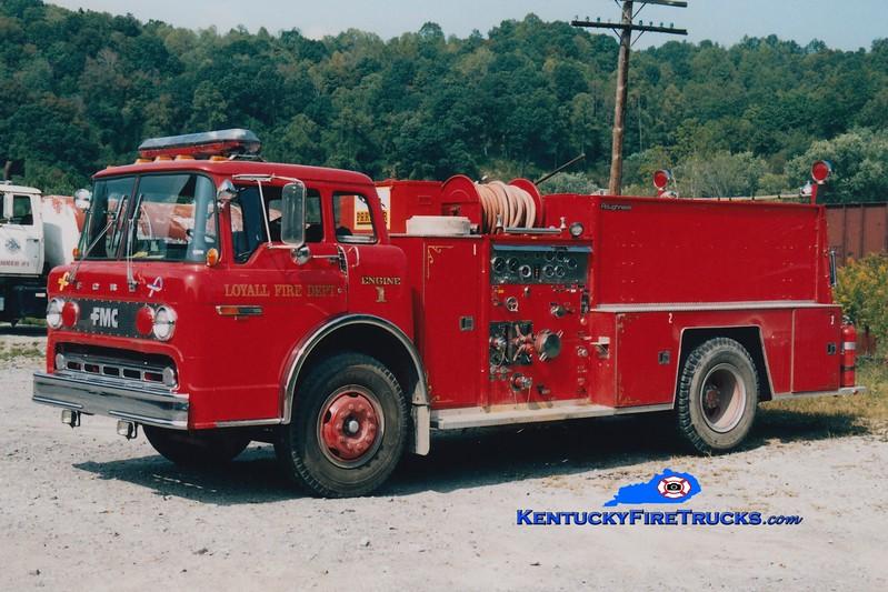 <center> RETIRED <br> Loyall  Engine 1 <br> 1982 Ford C/FMC 1000/750  <br> Greg Stapleton photo </center>
