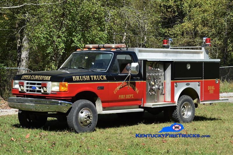 Upper Clover Fork  Engine 3<br /> x-Cedar Mountain, Auburn, IA <br /> 1991 Ford F-350 4x4/E-One 250/250<br /> Greg Stapleton photo