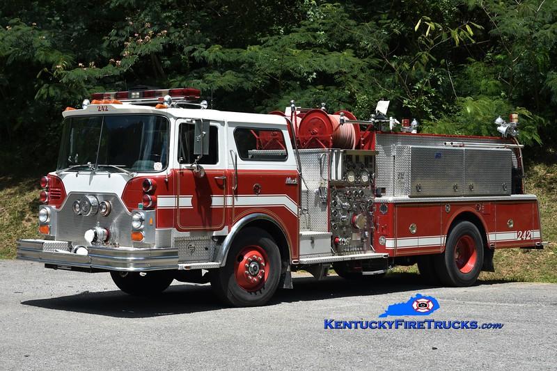 Upper Clover Fork  Engine 2<br /> x-Hyde Park, NY and Palm Coast, FL <br /> 1983 Mack CF 1250/500<br /> Greg Stapleton
