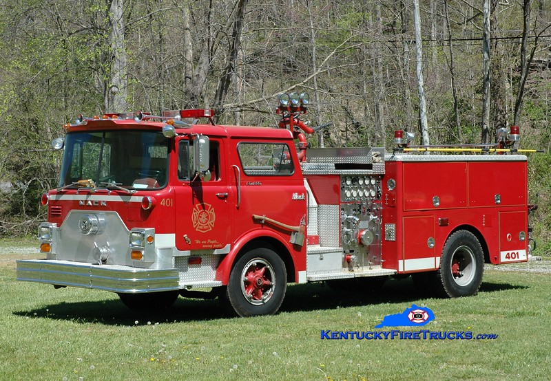 RETIRED <br /> Yocum Creek  Engine 1<br /> x-Franklin Twp, OH & Viper, KY <br /> 1972 Mack CF 1250/750<br /> Greg Stapleton photo