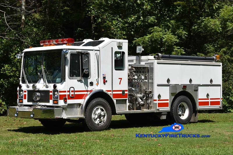 Yocum Creek  Engine 4<br /> x-Norwalk, CT<br /> 1982 Mack MC/1998 Fire Resources 1250/500<br /> Greg Stapleton photo