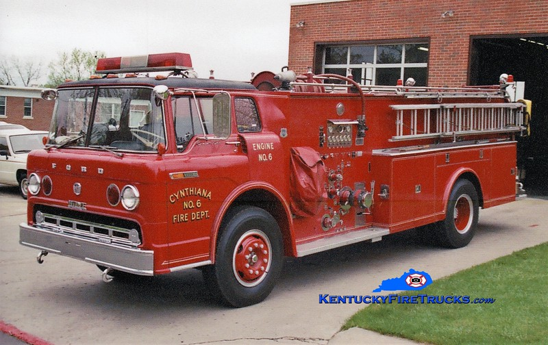 RETIRED <br /> Cynthiana Engine 6 <br /> 1971 Ford C/Howe 1000/500/Quad <br /> Greg Stapleton photo