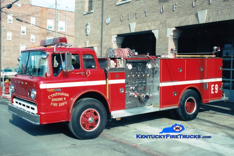 <center> Cynthiana Engine 9  <br> 1981 Ford C/Jaco 1000/500 <br> Greg Stapleton photo </center>