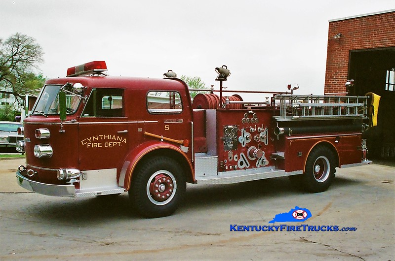 RETIRED <br /> Cynthiana Engine 5 <br /> 1962 American LaFrance 900 Series 1000/500 <br /> Greg Stapleton photo