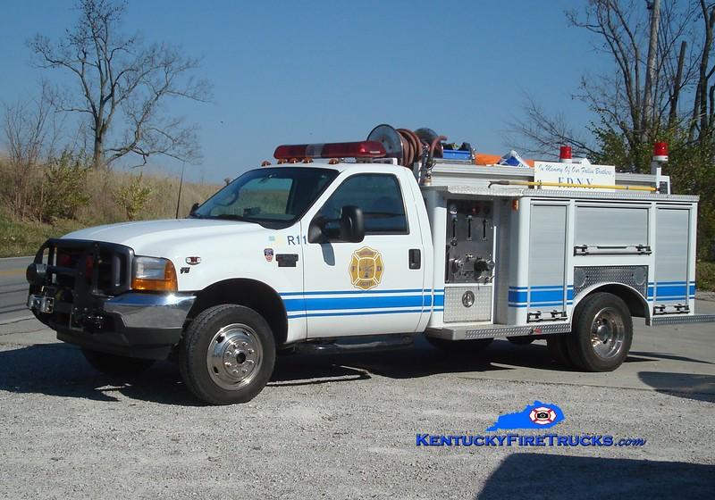 <center> Harrison County  Rescue 11 <br> 2001 Ford F-550 4X4/Pemna 250/250 <br> Greg Stapleton photo <br> </center>