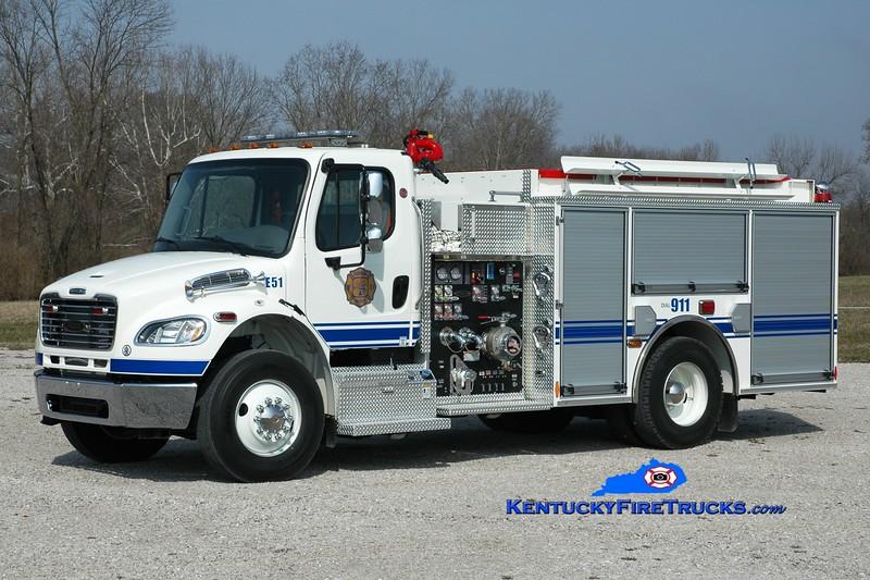 <center> Harrison County  Engine 51 <br> 2013 Freightliner M2-106/Pierce 1250/1000 <br> Greg Stapleton photo <br> </center>