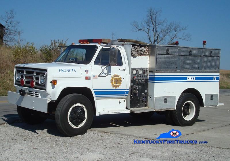<center> Harrison County  Engine 76 <br> 1982 GMC/Summit  500/1000<br> Greg Stapleton photo <br> </center>