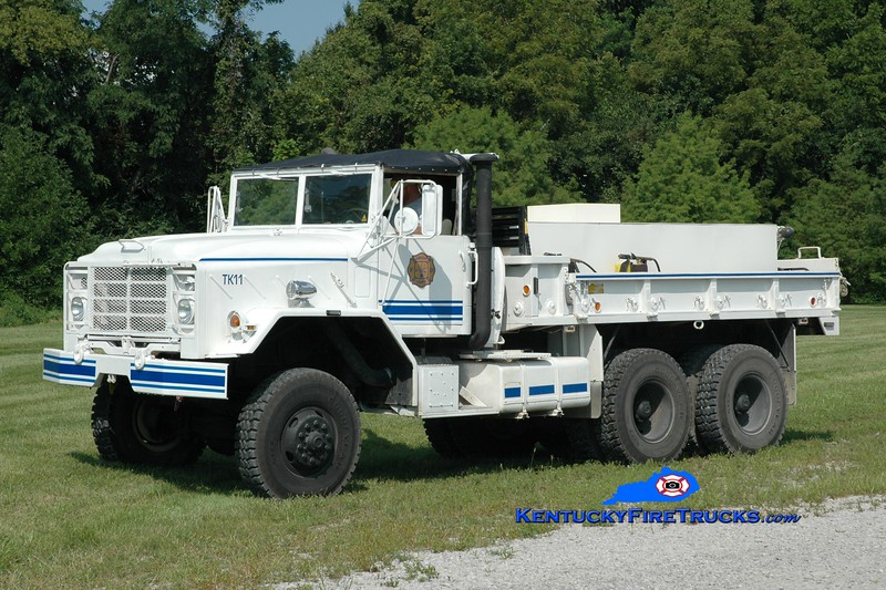 <center> Harrison County  Tanker 11 <br> x-US Army <br> 2007 AM General/FD 250/1000 <br> Greg Stapleton photo <br> </center>