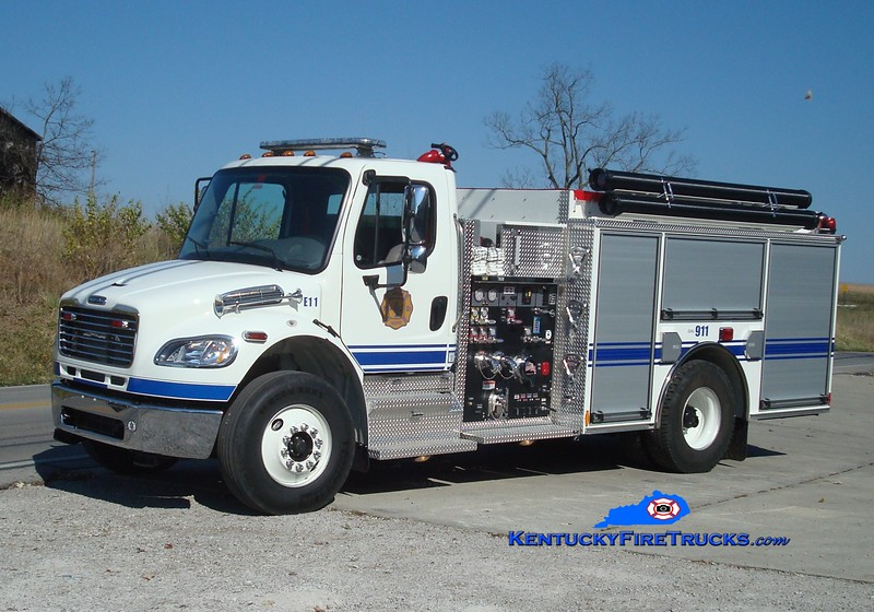<center> Harrison County  Engine 41 <br> x-Engine 11 <br> 2009 Freightliner M2-106/Pierce 1250/1000 <br> Greg Stapleton photo <br> </center>