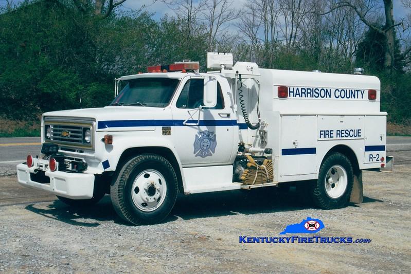 <center> RETIRED <BR> Harrison County  Rescue 2 <br> 1973 Chevy/Reading <br> Greg Stapleton photo <br> </center>