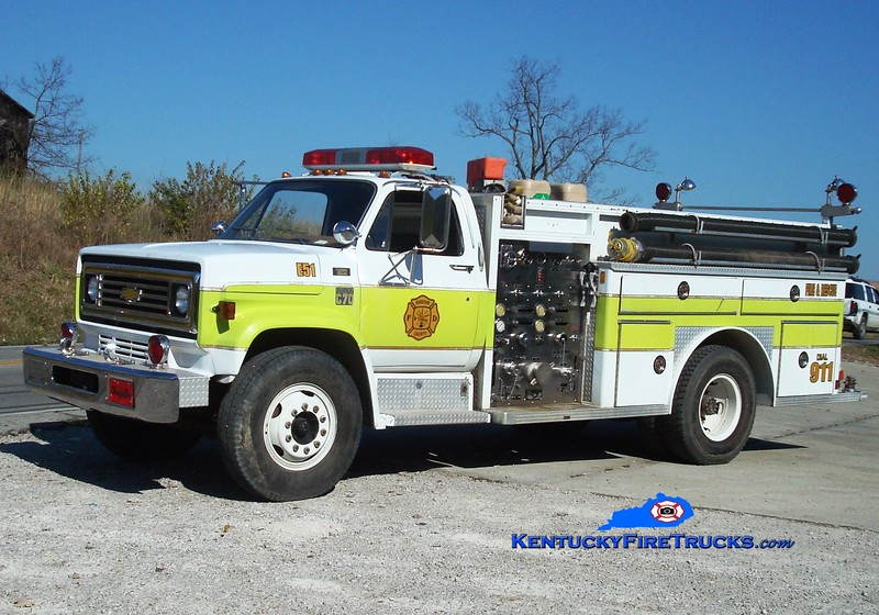 <center> RETIRED <BR> Harrison County  Engine 51 <br> X-Mount Olivet, KY <br> 1978 Chevy C70/E-One 1000/750 <br> Greg Stapleton photo <br> </center>