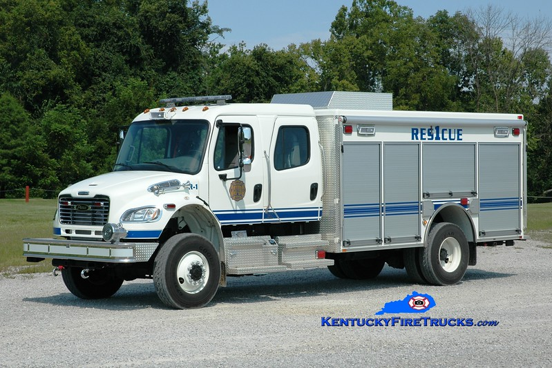 <center> Harrison County  Rescue 1 <br> 2014 Freightliner M2-106 4x4/Pierce  <br> Greg Stapleton photo <br> </center>