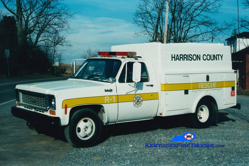 <center> RETIRED <BR> Harrison County  Rescue 1 <br> 1973 Chevy/Local <br> Greg Stapleton photo <br> </center>