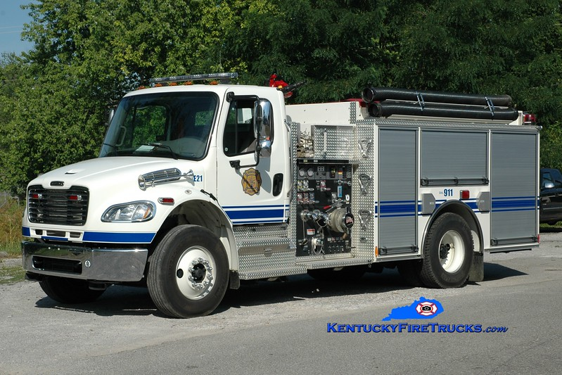 <center> Harrison County  Engine 21 <br> 2009 Freightliner M2-106/Pierce 1250/1000 <br> Greg Stapleton photo <br> </center>