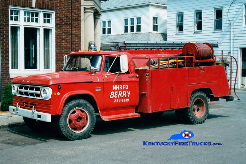 <center> RETIRED <BR> Northern Harrison Tanker 1 <br> 1970 Dodge/Local 250/800 <br> Greg Stapleton photo <br> </center>