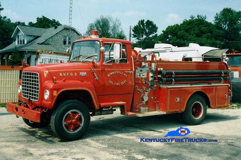 <center> RETIRED <br> Bonnieville  Engine 2 <br> 1972 Ford L/Howe 750/750 <br> Greg Stapleton photo </center>