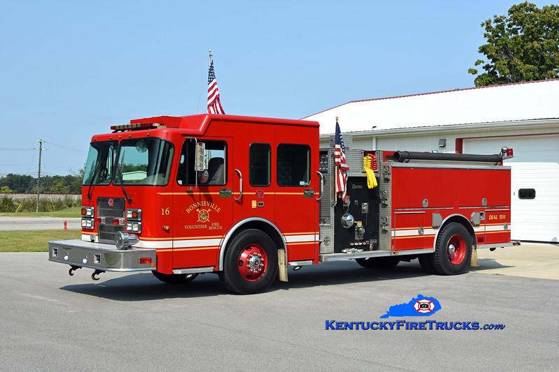Bonnieville Engine 16<br /> x-Daviess County & Masonville, KY<br /> 2004 Spartan/Rosenbauer 1250/1000<br /> Kent Parrish photo