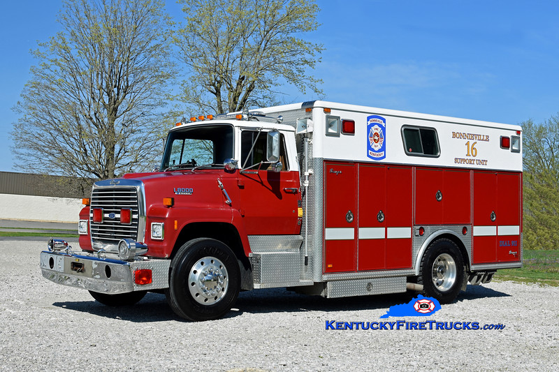 Bonnieville  Support 16<br /> x-Alexandria, Grayon, and Glendale, KY<br /> 1989 Ford LN8000/Ranger<br /> Kent Parrish photo