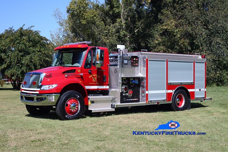 <center> Bonnieville  Engine 12 <br> 2013 International 4400/Rosenbauer 1250/1000/30 <br> Kent Parrish photo </center>