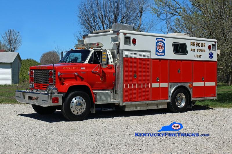 Bonnieville  Rescue 1353<br /> x-2nd Alarmers Assc Willow Grove, PA<br /> 1987 GMC Topkick 7000/Ranger<br /> Kent Parrish photo