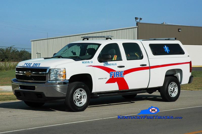 <center> Bonnieville  Rescue 13 <br> 2013 Chevy 2500 4x4  <br> Greg Stapleton photo </center>