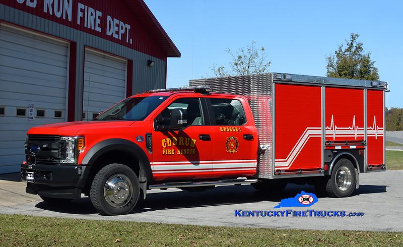 Cub Run  Rescue 1<br /> 2018 Ford F-550 4x4/Unruh 500/300<br /> Kent Parrish photo
