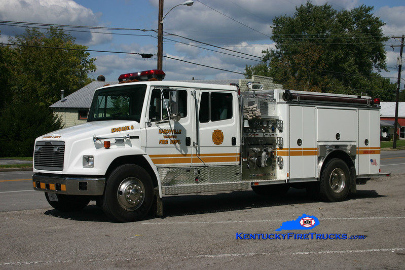 <center> RETIRED <br> Hardyville  Engine 6  <br> 2002 Freightliner FL80/E-One 1250/1000 <br> Kent Parrish photo </center>