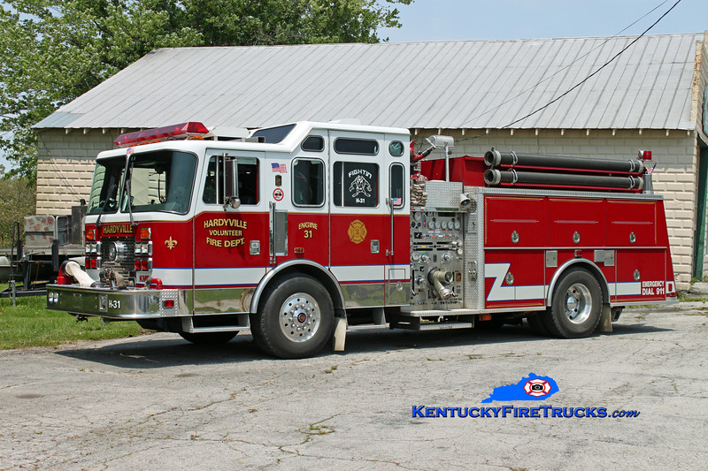 <center> Hardyville  Engine 31 <br> x-Florence Twp, NJ <br> 1993 KME Renegade 1500/1250 <br> Kent Parrish photo </center>