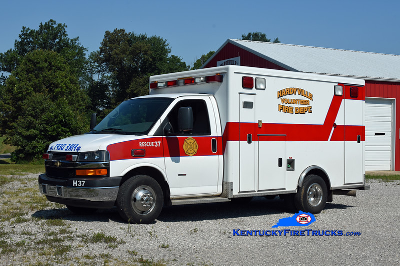 Hardyville Rescue 37<br /> x-Hart County EMS, KY<br /> 2009 Chevy K3500/McCoy Miller<br /> Kent Parrish photo
