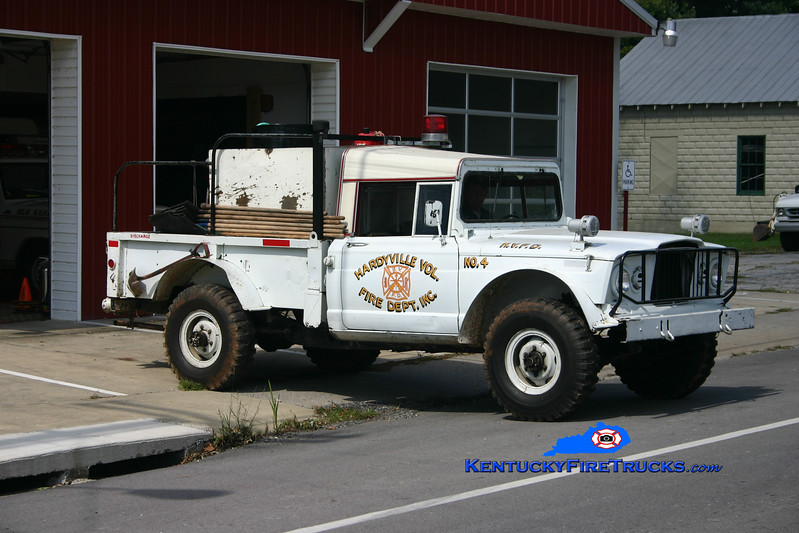<center> RETIRED  <br> Hardyville  Brush 4  <br> 1968 Kaiser 4x4 250/250 <br> Kent Parrish photo </center>