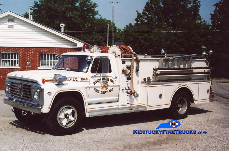 <center> RETIRED <br> Hardyville  Engine 2  <br> 1971 Ford F-750/Oren 300/800 <br> Greg Stapleton photo </center>