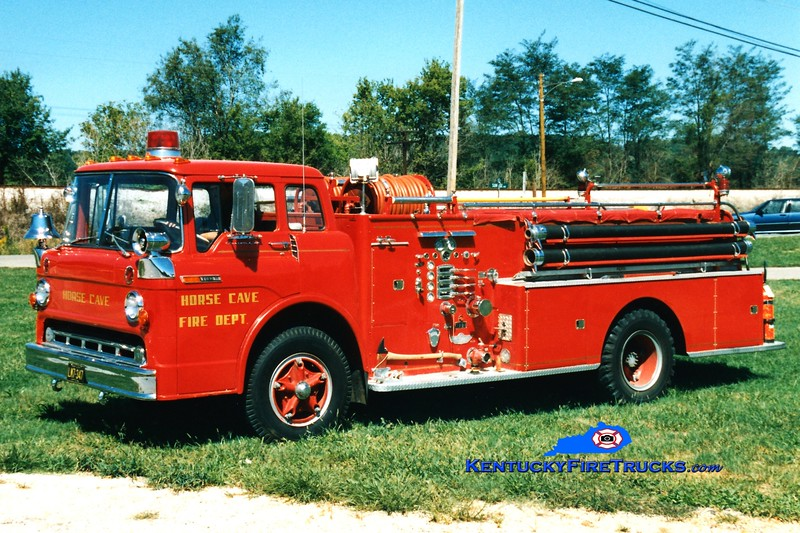 <center> RETIRED <br> Horse Cave Engine 42 <br> 1969 Ford C/American 750/500 <br> Greg Stapleton photo </center>
