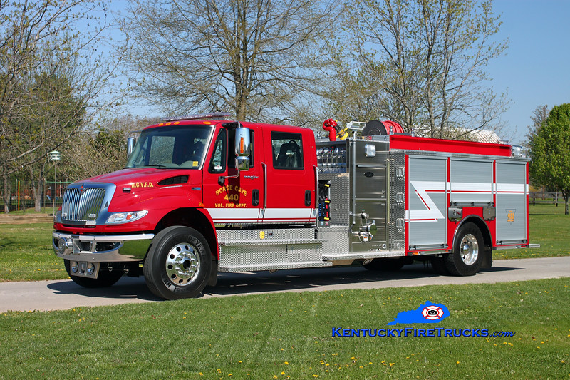 <center> Horse Cave Engine 440 <br> 2013 International 4400/Toyne 1250/1000/25 <br> Kent Parrish photo </center>