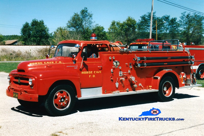 <center> RETIRED <br> Horse Cave Engine 46 <br> 1954 International R/American 500/500 <br> Greg Stapleton photo </center>