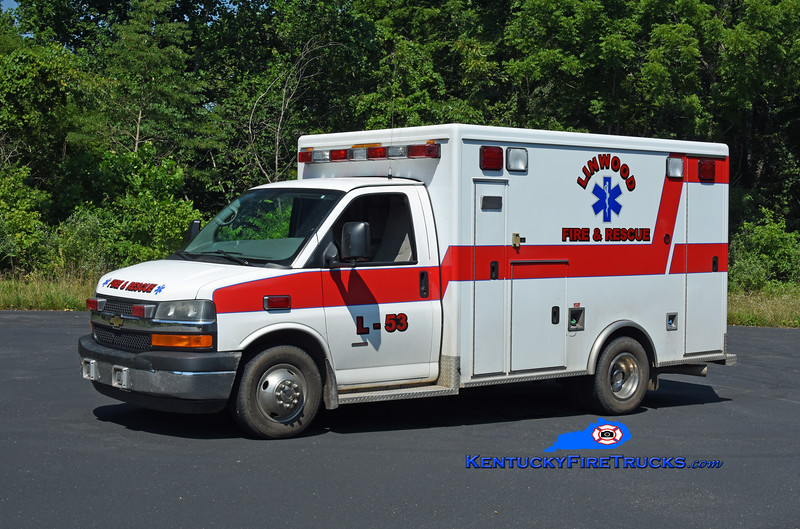 Linwood Rescue 53 <br /> x-Hart County EMS, KY<br /> 2011 Chevy K3500/McCoy Miller<br /> Kent Parrish photo
