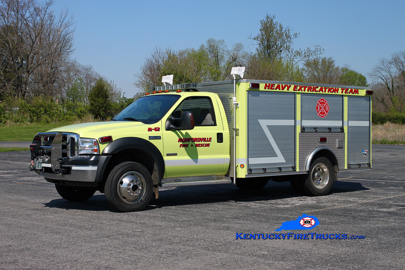 <center> Munfordville  Rescue 62 <br> 2007 Ford F-450 4x4/Intrepid Emergency Vehicles <br> Kent Parrish photo <br> </center>