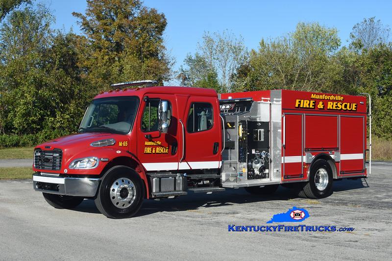 Munfordville  Engine 65<br /> 2019 Freightliner M2-106/Pierce 1250/1000<br /> Kent Parrish photo