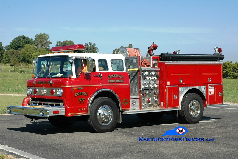 <center> Priceville  Engine 77 <br> x-Glasgow, KY <br> 1988 Ford C-8000/E-One 1250/500 <br> Greg Stapleton photo </center>