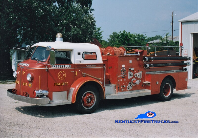 RETIRED<br /> Priceville Engine 1<br /> x-Collingswood, NJ and Chalybeate, KY<br /> 1958 American LaFrance 800 750/500<br /> Greg Stapleton photo