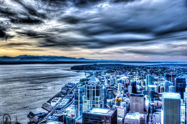 Central Business Destrict of Seattle from the Sky View Observatory (HDR)