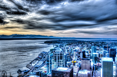 Central Business Destrict of Seattle from the Sky View Observatory
