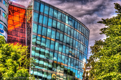 Office building in Grønland, Oslo HDR