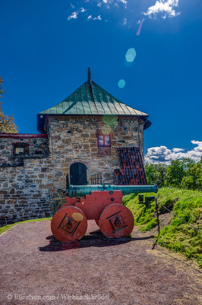 Akershus festning - cannon in front of the Stallgården (HDR)