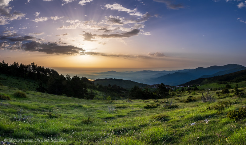 Sunrise in the Rhodope Mountains
