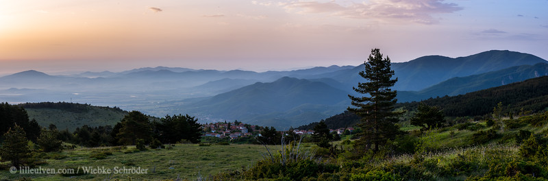 Sunrise over a small village in the Rhodope Mountains