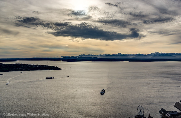 Looking over Puget Sound toward Bainbridge Island (HDR)