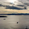 Looking over Puget Sound toward Bainbridge Island